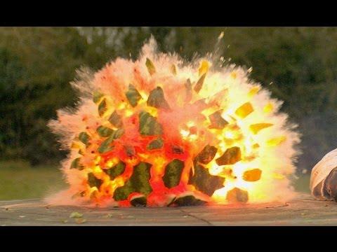 Έκρηξη καρπουζιού σε slow motion!