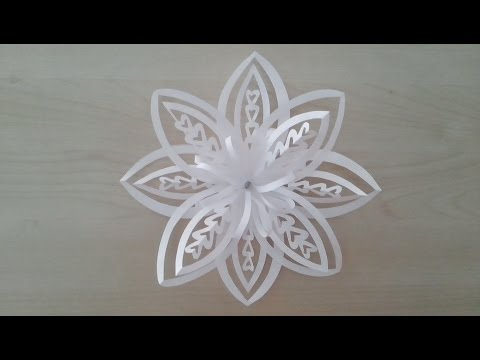 Download Volumetric 3D snowflake out of paper. 3D Paper Snowflake HD Video