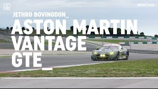 Driving the 500bhp Aston Martin Vantage GTE race car