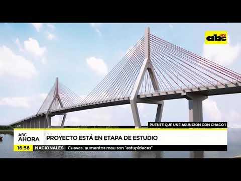 Puente que une Asunción con Chaco'i: proyecto está en estudio