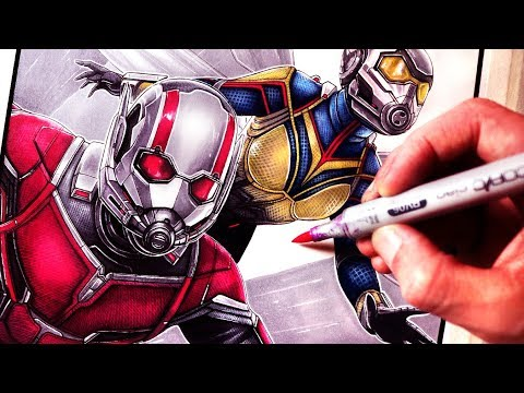 Let's Draw ANT-MAN AND THE WASP - FAN ART FRIDAY