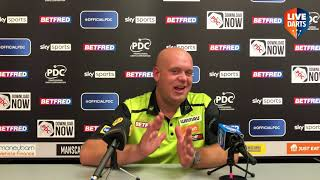 """Michael van Gerwen: """"It's not normal for us to have big crowds anymore, it felt a bit unrealistic"""""""