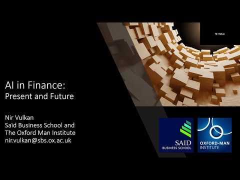 Webinar: AI in Finance, present and future