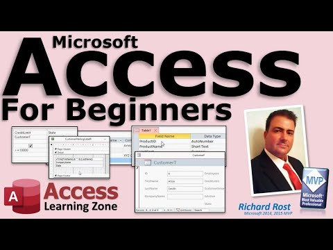 Microsoft Access Beginner Full 3 Hour Tutorial Database Planning ...