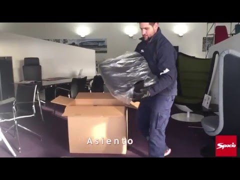 Montaje silla de oficina Light | Sillas oficina Spacio