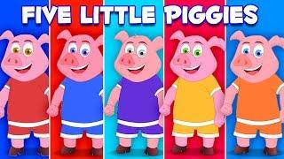 ลูกหมูห้าตัว   เพลงกระโดดหมู   เรียนรู้การนับตัวเลข   เพลงสำหรับเด็ก   Five Little Piggies