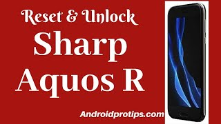 How to Reset & Unlock Sharp Aquos R