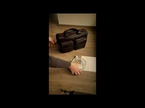 VON HEESEN Echt Leder Laptoptasche Business Tasche