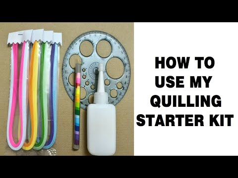 How to use my quilling starter kit
