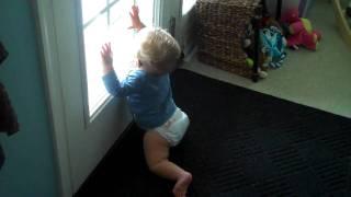 Matthew yelling for Dada outside