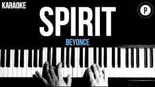 Beyonce   Spirit (The Lion King) Karaoke Piano Acoustic Cover Instrumental Lyrics