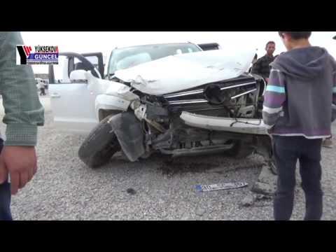 Yüksekova ve Çukur'dan 3 Ayrı Trafik Kazası: 4 Yaralı