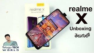 Realme X Pop Up Selfie Camera 🤳Smartphone Unboxing & Initial Impression || In Telugu ||