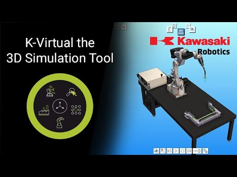 K-Virtual the 3D-Simulation Tool for Kawasaki Robots