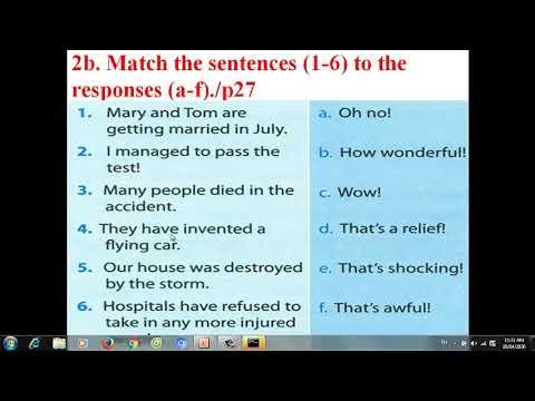 TIẾNG ANH LỚP 8: (HỆ 10 NĂM) Unit 9 Natural Disaster
