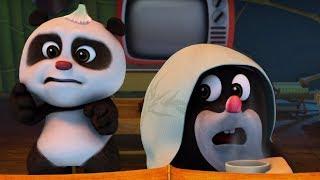 Кротик и Панда - Непрошеные гости   - серия 22-  развивающий мультфильм для детей - страшная серия