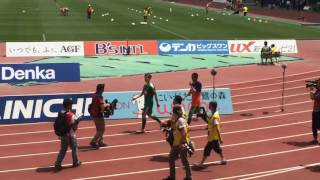 6/11新潟クラシック試合終了後バンザイ2酒井高徳選手寺川能人選手