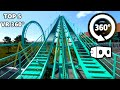 VR 360 Video of Top 5 Roller Coaster Rides 4K Virtual Reality