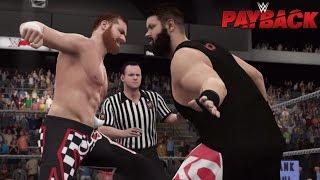 WWE 2K16: Payback 2016 Kevin Owens vs Sami Zayn (Custom Scenario)