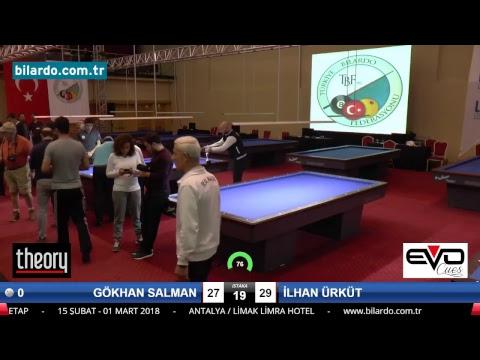 GÖKHAN SALMAN & İLHAN ÜRKÜT Bilardo Maçı - 2018 - TÜRKİYE 1.LİGİ-Final