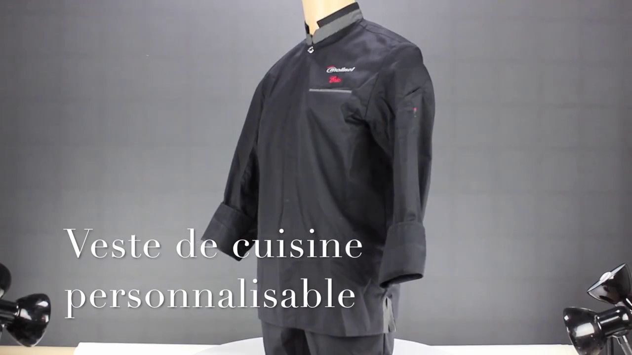 Veste De Noire Personnalisable Et Brodable Cuisine av1wTnR1qS