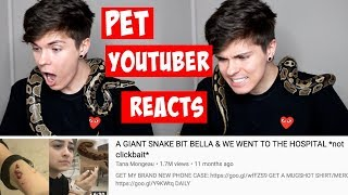 PET YOUTUBER REACTS TO TANA MONGEAU SNAKE BITE VLOG | Tyler Rugge by Tyler Rugge