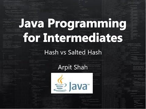 Hash vs Salted Hash (How to store password) Java