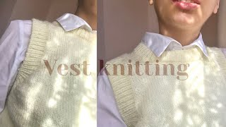 knitting a sweater vest | step by step