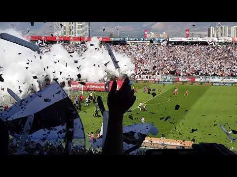 """Salida Colo Colo Curicó Unido 2017"" Barra: Garra Blanca • Club: Colo-Colo"