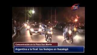 preview picture of video 'Argentina a la Final del Mundial- Festejos en Ituzaingó- Tele 2 Noticias'