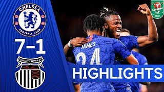 Chelsea 7-1 Grimsby Town | Hudson-Odoi, James and Barkley Score In 8 Goal Thriller 🔥| Highlights