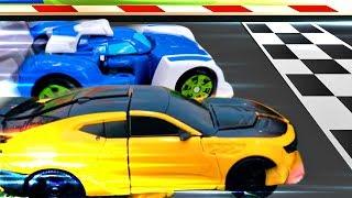Роботы Трансформеры - соревнования Автоботов. Ремонт Блура - Видео для детей