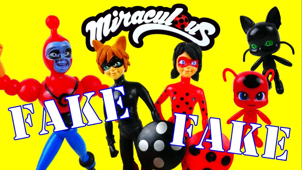 FAKE Knock-off Miraculous Ladybug Toys - Bubbler Tikki Plagg Cat Noir Ladybug | Evies Toy House