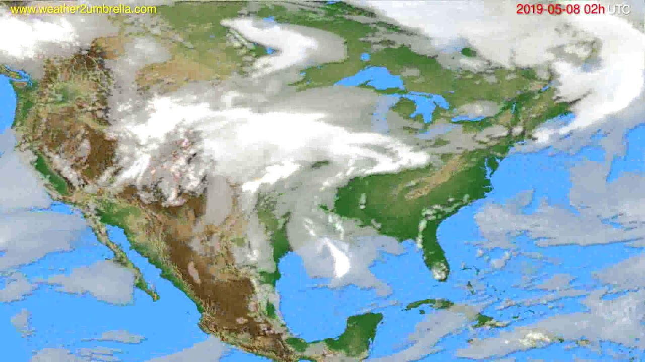 Cloud forecast USA & Canada // modelrun: 12h UTC 2019-05-05