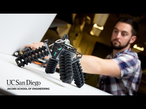 3D printed soft four legged robot can walk on sand and stone