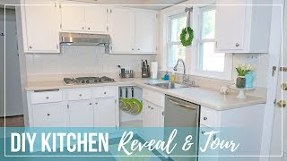 DIY Kitchen Reveal & Tour | Budget Farmhouse Cottage Kitchen Upgrade