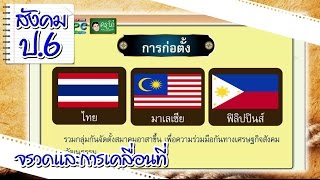 สื่อการเรียนการสอน กลุ่มอาเซียน ป.6 สังคมศึกษา