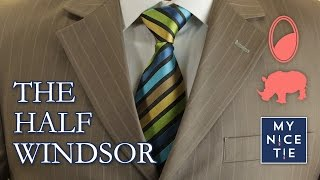 How to tie a tie 1 minute tutorial mirrored most popular videos how to tie a tie the half windsor slowmirroredbeginner ccuart Gallery