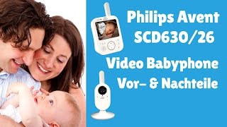 Philips Avent SCD630 26 Video Babyphone 3,5 Zoll ►► Babyphone mit Kamera ✅✅♥♥