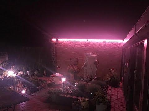 Philips Hue Outdoor Lightstrip installiert