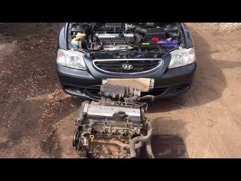 Где находится номер двигателя на автомобиле Hyundai Accent