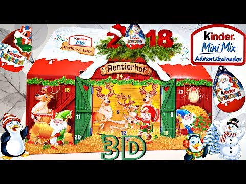 Kinder Mix Advent Calendar 2018! First 3D Advent HOUSE In The World!