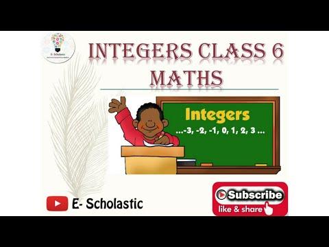 Maths Integers Class-6