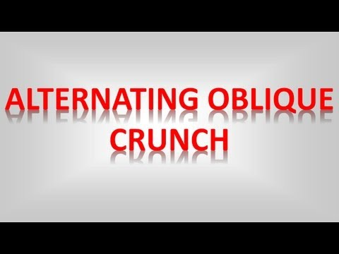 Alternating Oblique Crunches