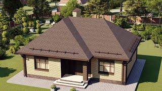 Проект дома 081-C, Площадь дома: 81 м2, Размер дома:  9,5x11,8 м
