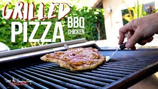 Easy Grilled BBQ Chicken Pizza Recipe   SAM THE COOKING GUY