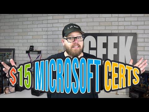 15 DOLLAR MICROSOFT CERTIFICATIONS?! - YouTube