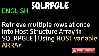 IBM i, AS400 Tutorial, iSeries, System i - Retrieve multiple rows at once | HOST variable ARRAY