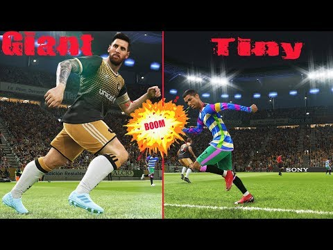 DOWNLOAD: PES 2019   Tiny Team L MESSI vs Giant Team C RONALDO