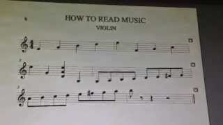 How to Read Violin Music